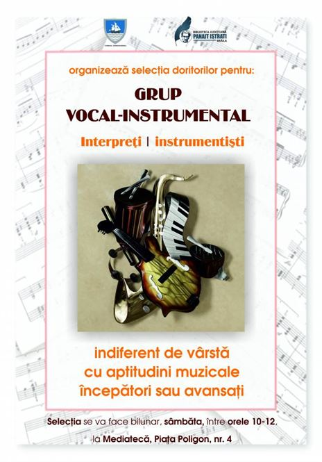 Grup vocal - instrumental la Biblioteca Judeteana