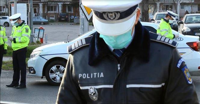 Acţiuni ale polițiștilor pentru respectarea măsurilor și regulilor ce se aplică pe durata stării de alertă