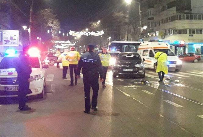 Accidentate pe trecerea de pietoni de la intersectia Dorobanti cu Eremia Grigorescu