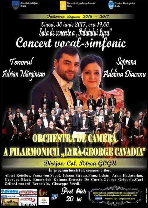Concert vocal-simfonic la Filarmonica Lyra