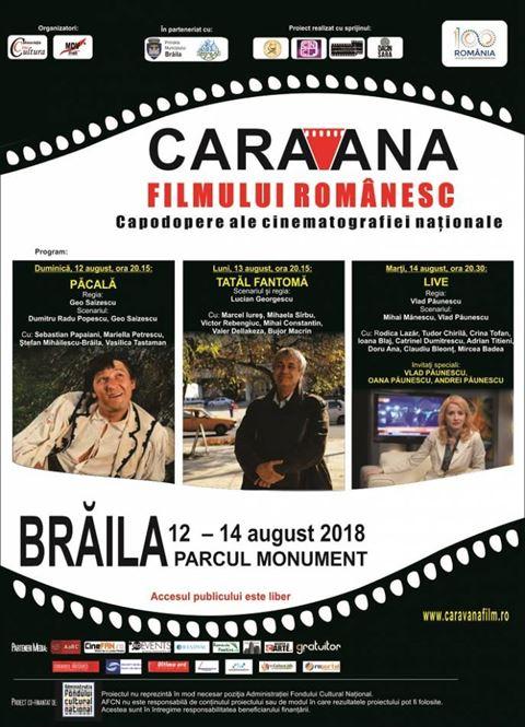 Caravana filmului românesc ajunge la Zilele Municipiului Brăila, în perioada 12–14 august
