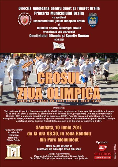 """Sambata are loc editia a VIII-a a Crosului """"Ziua Olimpica"""""""
