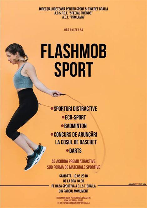 FlashMob Sport experimentează lucruri noi…a ediţia a VI-a