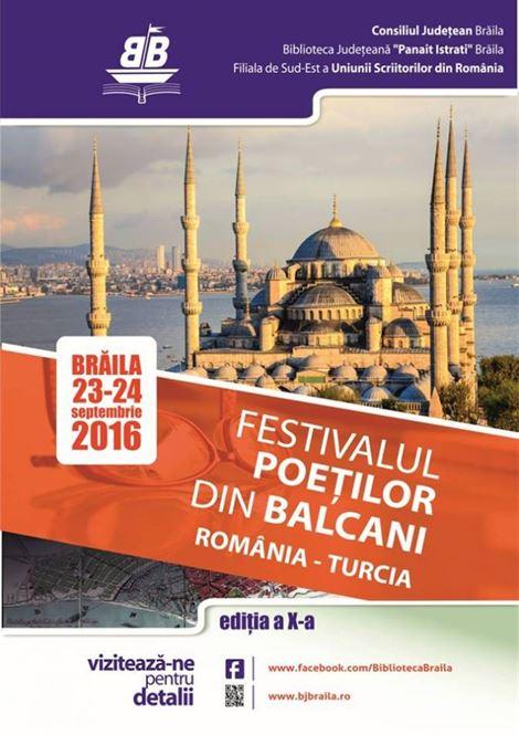 Festivalul Poeților din Balcani la Biblioteca Județeana