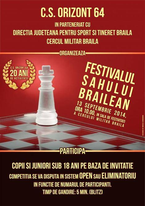 Sambata de la ora 10.00 are loc editia a XIV-a a Festivalului Sahului Brailean