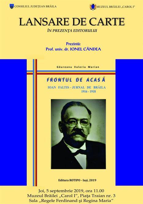 """Lansare de carte la Muzeul Brăilei """"Carol I"""""""