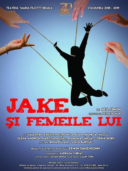 """Actorii teatrului brăileană prezintă în premieră piesa """"Jake și femeile lui"""" pe scena Teatrului Odeon"""