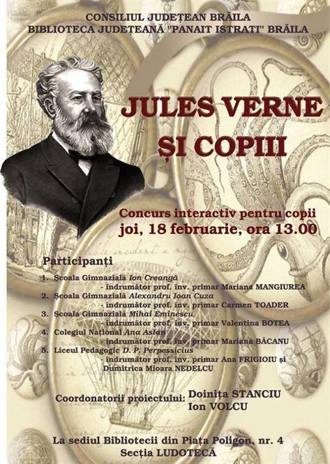 Concurs interactiv Jules Verne și copiii