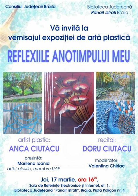 Expoziției de pictură a artistului plastic Anca Ciutacu