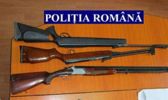 Arme de vânătoare ridicate de polițiști