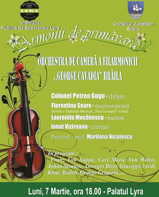 Armonii de primavara la Filarmonica Lyra