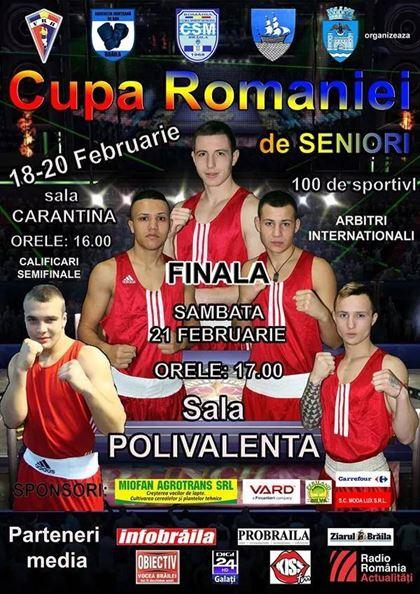 Astazi se va auzi primul gong la Cupa Romaniei de seniori