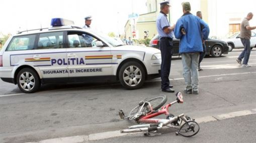 Accident rutier pe DE 584