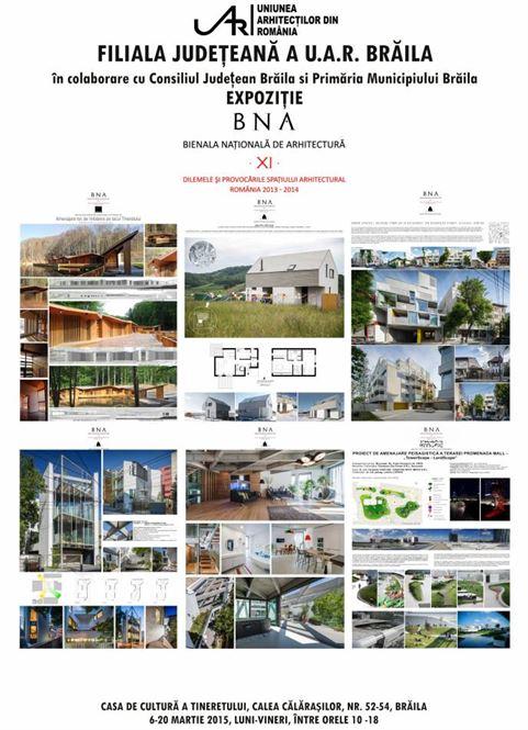 Bienala Nationala de Arhitectura la Braila incepand de vineri