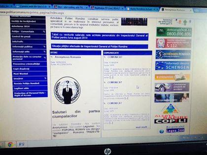 Site-ul Politiei Romane a fost spart de hackeri