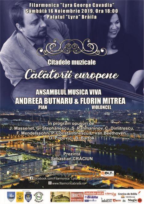 Serată muzicală la Filarmonica Lyra-George Cavadia