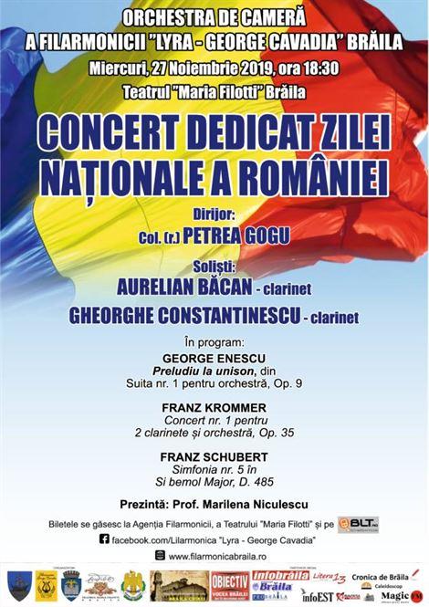 Concert dedicat Zilei Naționale a României