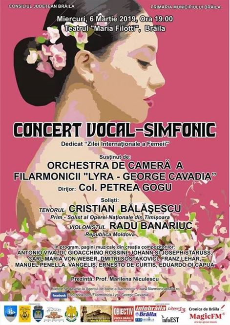 Concert vocal-simfonic dedicat Zilei Internationale a Femeii