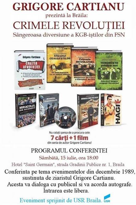Crimele Revolutiei - Conferinta sustinuta de Grigore Cartianu