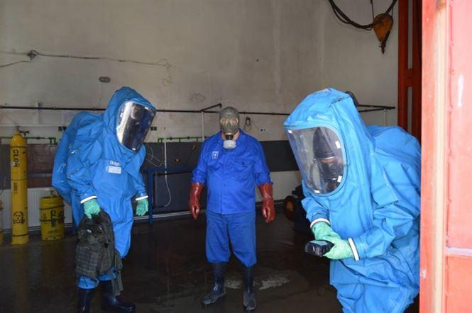 Scurgeri accidentale de clor și incendiu la staţia de tratare a apei din muncipiul Brăila