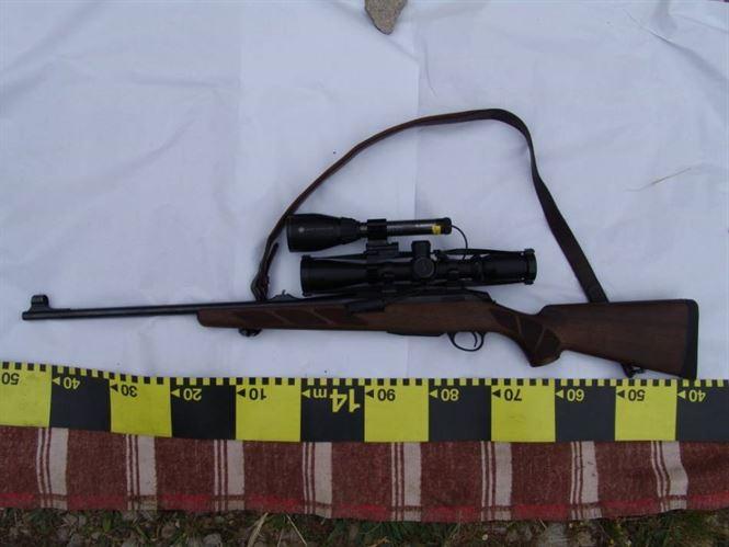 Armă letală de vânătoare, ridicată de polițiști