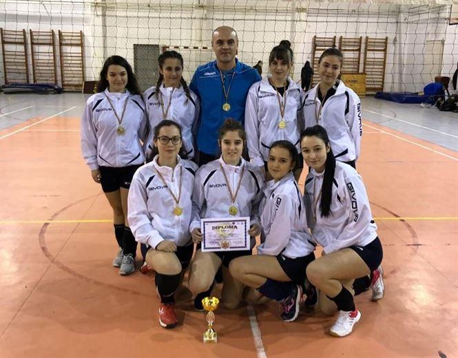 Echipa Colegiului Murgoci a câștigat etapa județeană a ONSS la volei fete liceu