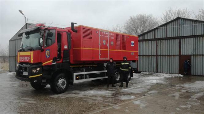 Un container de mare capacitate generator de curent electric a plecat de la Brăila spre Ialomița