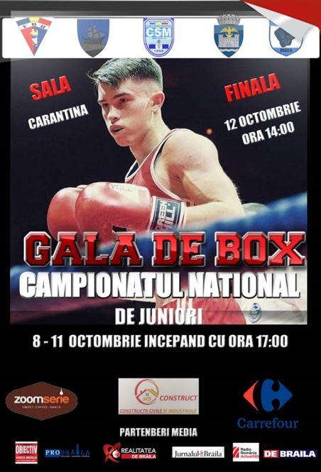 Brăila va găzdui Campionatul Național de Box pentru juniori
