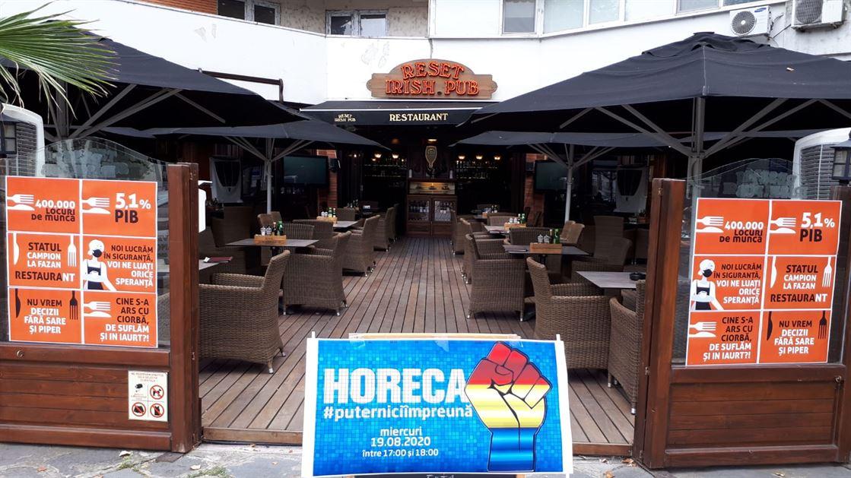 Proteste ale reprezentanților HoReCa. Terasele închise timp de o oră