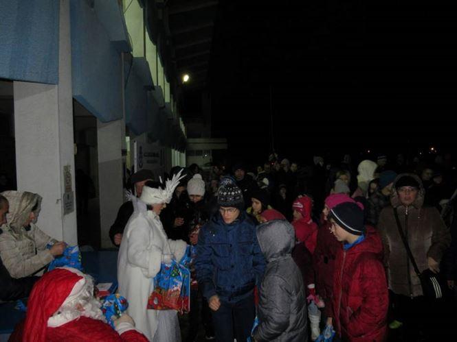 Mos Craciun a poposit la copiii de la Dacia Unirea Braila