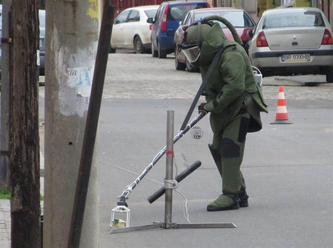 Colet suspect în zona unei bănci din Brăila