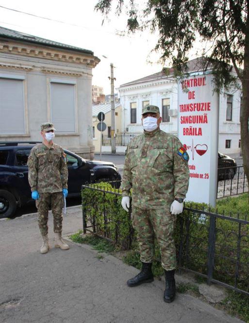 Campanie donare sânge în Garnizoana Brăila