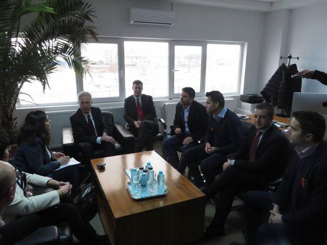 Galerie foto+video: Ambasadorul SUA in vizita economica la Braila