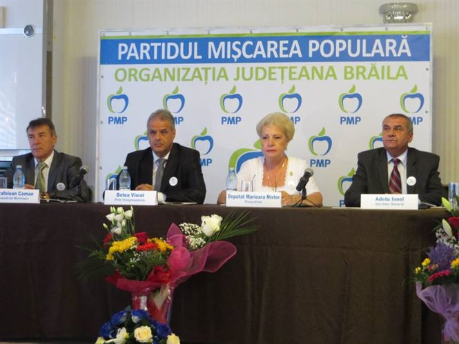 PMP Braila a intrat in linie dreapta spre alegerile parlamentare