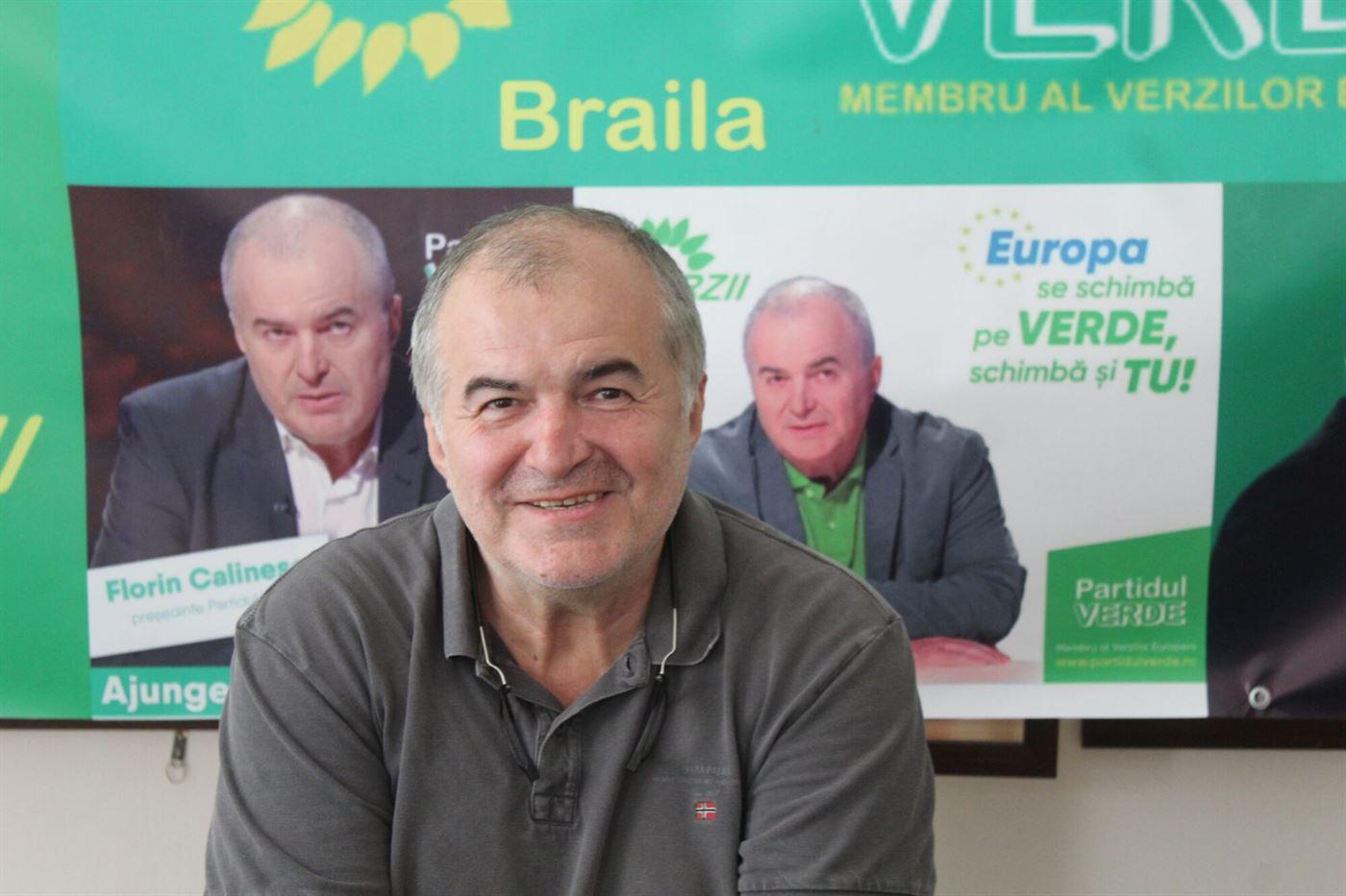 """Florin Călinescu în vizită la """"verzii"""" din Brăila"""