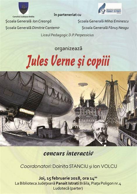 """Concurs interactiv """"JULES VERNE ȘI COPIII"""""""