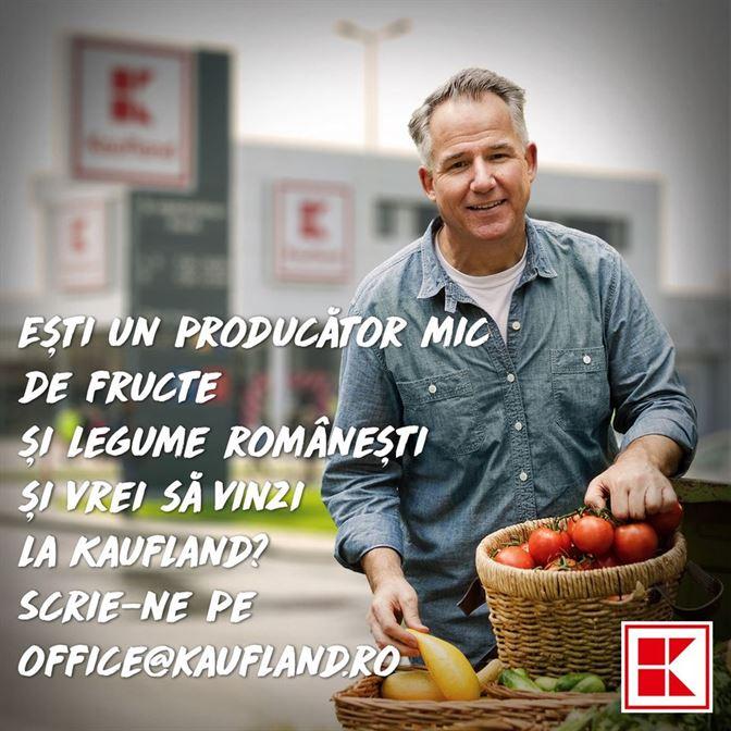 Kaufland România își oferă spațiul din magazine pentru a găzdui producătorii locali mici de legume fructe