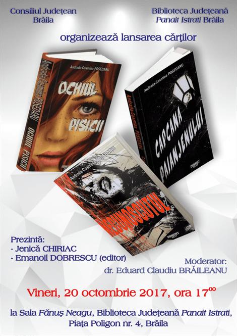Tripla lansare de carte – Cosmina Posedaru