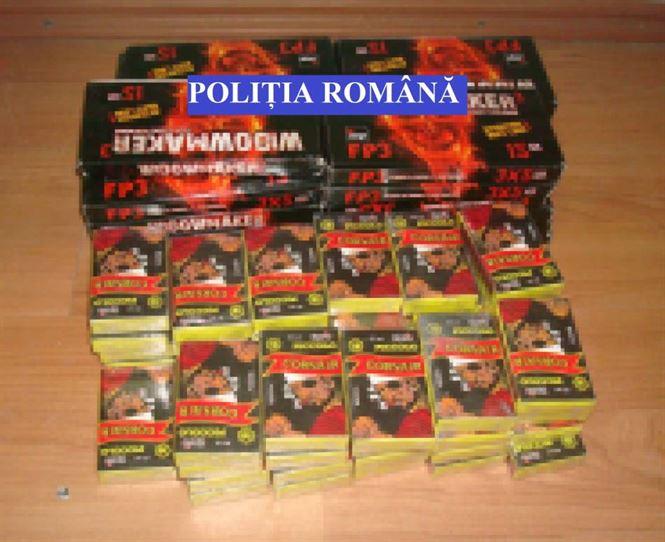 Obiecte pirotehnice, confiscate de poliţişti înaintea Anului Nou