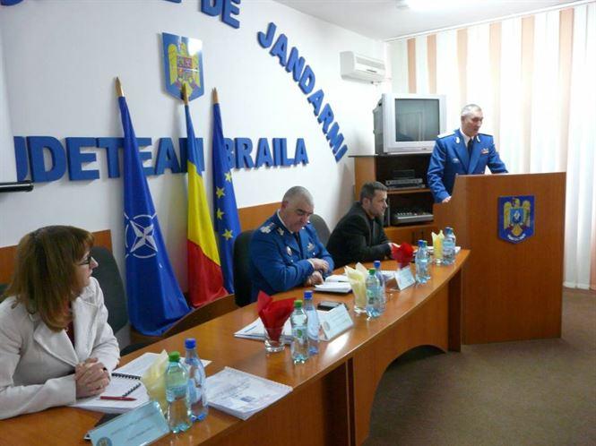 Jandarmii braileni si-au prezentat activitatea