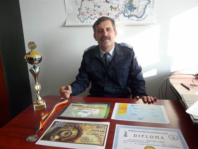 Colonelul Vasile Mot, locul I la Campionatul National de Radioamatorism