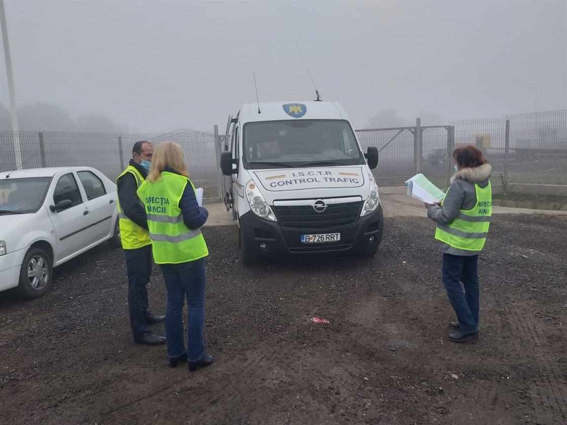 Acțiuni de control ale inspectorilor ITM la transportatorii rutieri