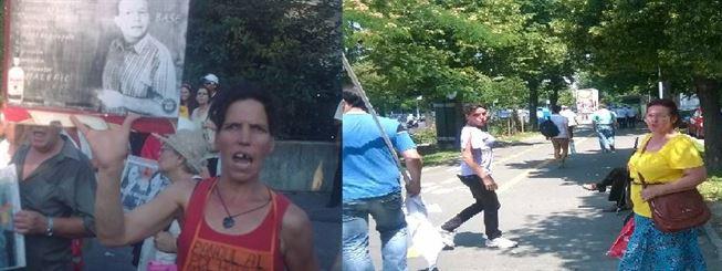 Plimbarea antenistilor intesata de protestatarii de serviciu