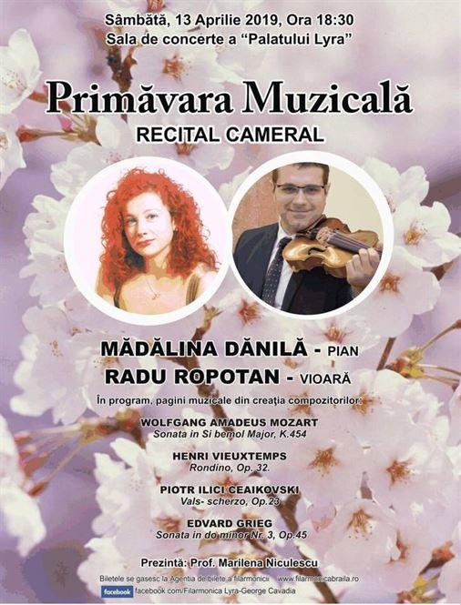 """Primăvara Muzicală"" la Filarmonica Lyra"