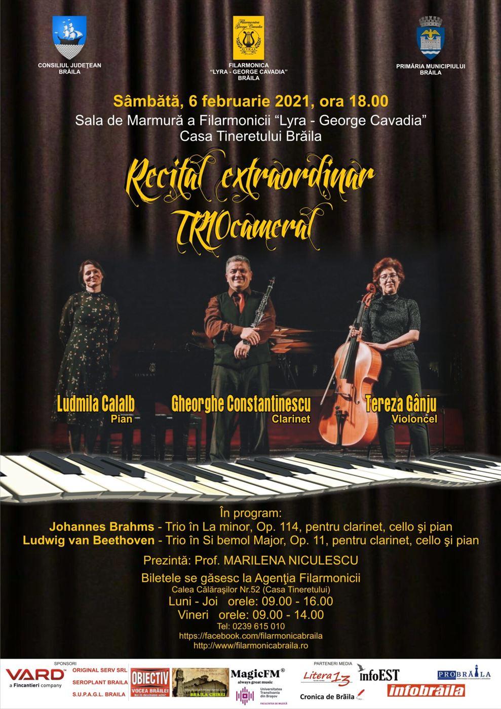 Trio cameral la Filarmonica Lyra