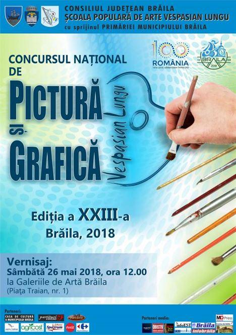 """Concursul Naţional de Pictură şi Grafică """"VESPASIAN LUNGU"""" își va desemna câștigătorii"""