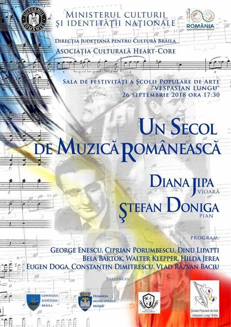"""Un secol de muzică românească la Școala """"Vespasian Lungu"""""""