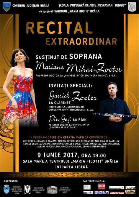 Recital muzical unic, cu invitati de peste hotare
