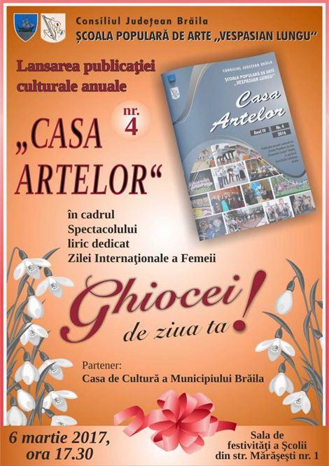 """Publicatia culturala """"Casa Artelor"""" in luna lui """"Martisor"""""""
