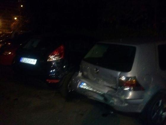 Trei masini lovite pe strada Calugareni de un sofer baut si fara permis